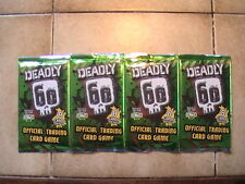 4  X COLLECTIBLE DEADLY 60  SERIES ONE SEALED BOOSTER PACKS