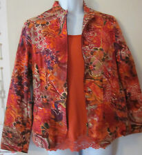 Coldwater Creek Beautiful  Fall Colors Front Zipper Jacket & With Tank~Sz PS~EC