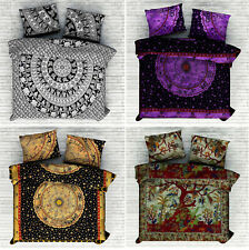 Boho King Size Quilt Duvet Cover Mandala Hippie Gypsy Indian Bedding Cover Set