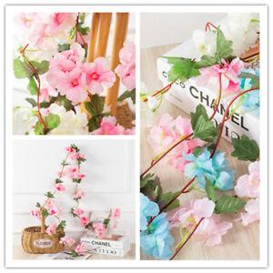 Künstliche kirsche blume blumen gefälschte blüten garland ivy hängen home dekor