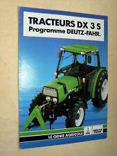 Prospectus Tracteur DEUTZ DX 3 S brochure tractor Traktor Trattore Prospekt