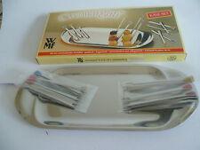 WMF Cromargan Käse-Set 12 Pieker Edelstahl Käseplatte 60- 70er Jahre NEU OVP