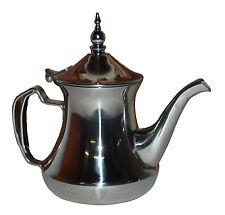 Moroccan Tea Pot Serving Medium 24 oz Stainless steel Tea Kettle Silver Strainer