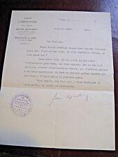 JEAN COQUELIN Autographe Signé 1933 ACTEUR COMEDIE-FRANCAISE ROSTAND MIME WAGUE