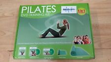 Medicarn Pilates DVD Training Kit with Mat Stretch band workout book CD 5 in 1