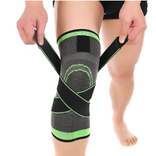 3d Weaving Knee Brace Breathable Support Running Jogging Joint Pain Knee Pad