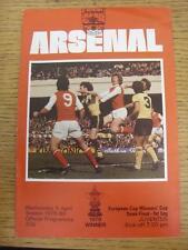 09/04/1980 European Cup Winners Cup Semi-Final: Arsenal v Juventus  . Item in ve