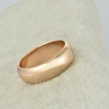 Womens Wedding Band Rings 14K Rose Gold Filled Fashion Band Rings Size 8