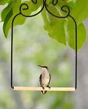 Hummingbird Swing Metal Frame Hummingbird Perch Wild Bird Swing w/ Wooden Dowel