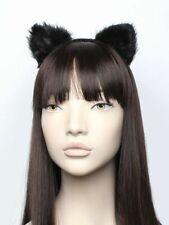 Orejas De Gato Negro Peludos Gatito Sofisticado Vestido Halloween Vestido de Disfraz de fiesta de gallina