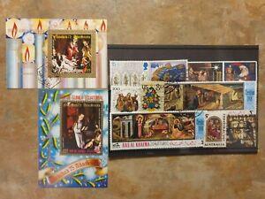 Christmas - 10 stamps - 2 mini/ souvenir sheets set 1
