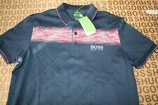 Nuevo Hugo Boss Para Hombre Azul Athleisure Stretch Traje de Polo Golf Paddy Pro T-Shirt Large