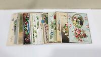 Lot of 20 Vintage Embossed Holidays & Greetings postcards
