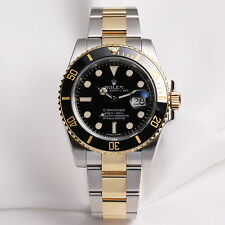 Rolex Submariner 116613LN Steel & Gold Ceramic Bezel