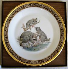 Racoons 1973 Collector Plate by Lenox - Woodland Wildlife Series by Artist Boehm