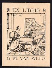 39)Nr.094-EXLIBRIS- Anton Pieck , Ex Musicis