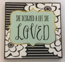 She Designed A Life She Loved Ganz Girl Wooden Magnet Kitchen Refrigerator