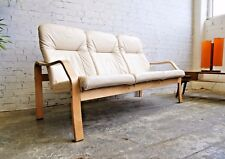 Contemporary Retro Mid Century Style Bentwood Bent Ply 3 Seater Armchair Sofa