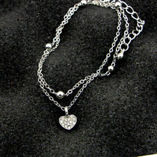 Chain Silver Foot Jewelry Girls Novelty Heart/Star Shape Anklet Double Layered