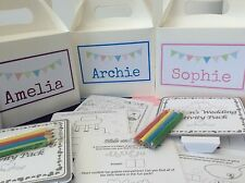 PERSONALISED CHILDREN'S WEDDING ACTIVITY BOX - complete with activity pack