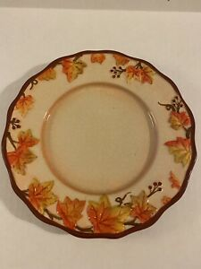 """Yankee Candle Leaf Plate 7"""" Fall Leaves  #1146819"""