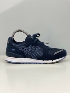 Asics Tiger Gel- Classic Older Boys Blue Suede And Mesh Trainers UK Size 4.5