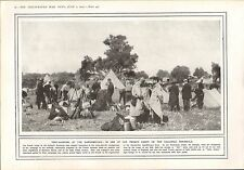 1915 WWI PRINT ~ TENT SLEEPING DARDANELLES FRENCH CAMPS ON GALLIPOLI PENINSULA