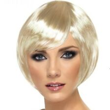 Ladies Fancy Dress Bob Wig Babe Blonde Hen Party Brand New by Smiffys