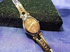 Woman's Amitron Metallic Brown Watch with Crystals **New ** B87-092