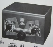 1953 STUCO 21-a UHF CONVERTER vhf booster SERVICE MANUAL PHOTOFACT schematic