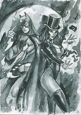 A00776 Zatanna Batman by Ladin *NOT A PRINT* original art drawing marvel comics