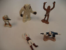 STAR WARS 1982 EPISODE V. LOT OF 5 LFL MICRO DIE-CAST FIGURES HOTH SCENES WAMPA