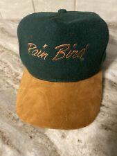 Vintage Rain Bird Sprinkler Cap Hat Pro Green Expo Rare Wool Suede