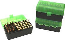MTM Ammo Box Medium Rifle 50 Round Black and Green Fits 243 308 RM 50 16T