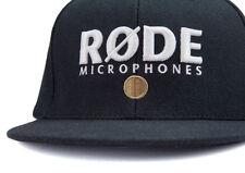 BLACK DENIM RODE MICROPHONE DESIGN CAP