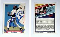 Mark Whiten Signed 1993 Topps #277 Card Cleveland Indians Auto Autograph