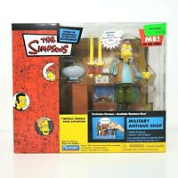 Playmates The Simpsons MILITARY ANTIQUE SHOP Playset HERMAN Figure WOS 2003