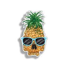 "Pineapple Skull Glasses Sticker Car Window Truck Bumper 6"" Decal Laptop Die Cut"