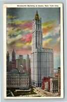 New York City NY, Woolworth Building At Dawn, Vintage New York Postcard