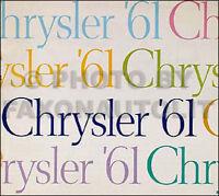 1961 Chrysler Sales Catalog Original New Yorker Newport Windsor Color Brochure