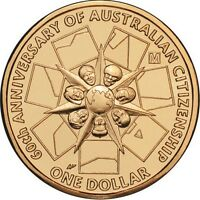 2009 Australia Citizenship 60th Anniversary $1 Coin - Melbourne 'M' Privymark