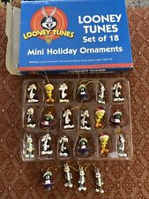 Looney Tunes Set of 18 Mini Holiday Ornaments - Vintage 1998 Bugs Bunny & More
