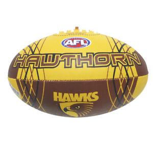 AFL HAWTHORN HAWKS FULL SIZE SYNTHETIC TEAM FOOTBALL - BRAND NEW