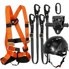 Fusion Kids Zip Line Kit Harness/2 LanyardCarabinerTrolleyHelmet FTK-K-HLLCTH-15