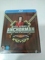 Anchorman The Legend of Ron Burgundy Will Ferrell Steelbook - 2 x Blu-ray New AM