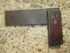 Vintage wood with brass inlay Carpenters' Set Square tool