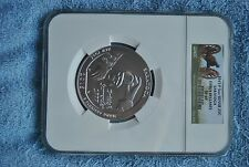 2015, NGC, Saratoga 5 oz silver coin, SP69, Early Releases