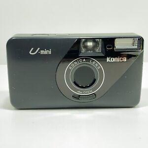 Vintage Konica U-Mini AF 35mm Point & Shoot Film Camera - Working
