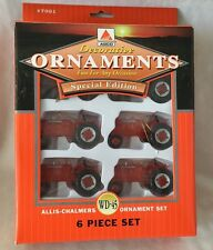 Allis Charmers WD-45 6 Piece Tractor Christmas ornaments Special  Edition NIB