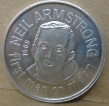 Neil armstrong first man on the moon 1969 aluminum medal people who made america
